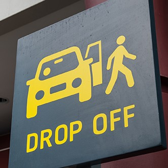 Drop off sign