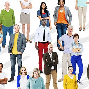 Group of Multiethnic Diverse Colourful People