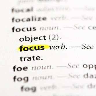 """Focus"" Definition highlighted"