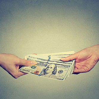 hands giving money. Finance concept