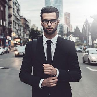 Confident businessman.